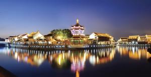Suzhou Garden at night - Thinkstock 159434151