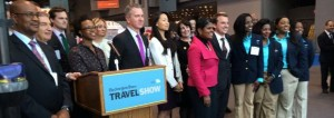 Opening ceremony at the New York Times Travel Show on Friday, February 28, 2014.