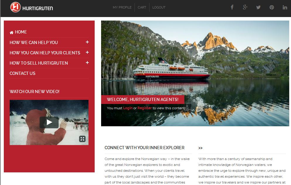 Hurtigruten Launches New Travel Agent Website Travel World News